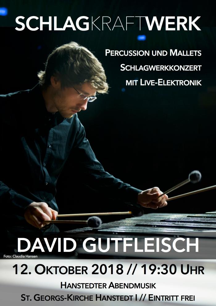Plakat Solo Konzert Hanstedt David Gutfleisch Oktober 2018
